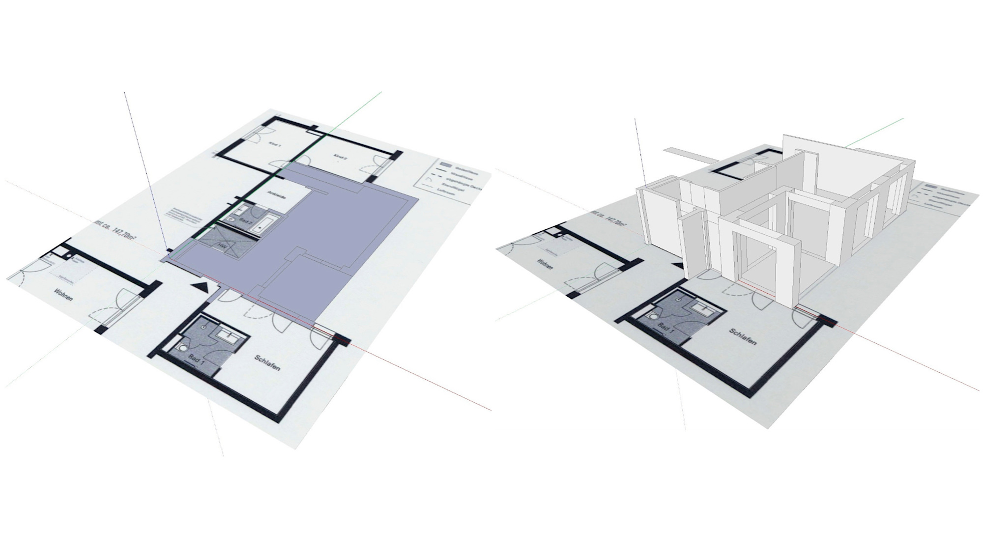 How to draw a floor plan in SketchUp